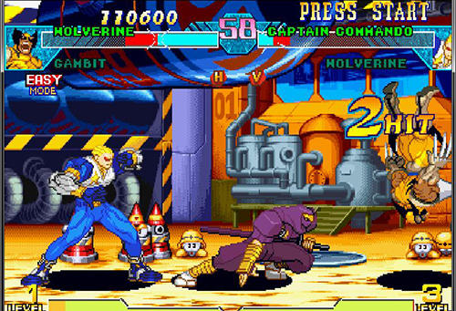 Arcade: spiel Marvel vs. Capcom: Clash of super heroes für Fly