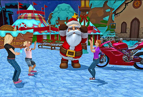 Crazy Santa moto: Gift delivery for Android