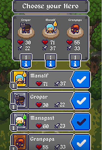 Screenshot Königsbrecher: Ein Roguelike Spiel auf dem iPhone
