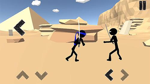 Zeitkiller Stickman ninja warrior 3D auf Deutsch