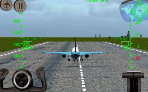 Simulation 3D Airplane flight simulator für das Smartphone
