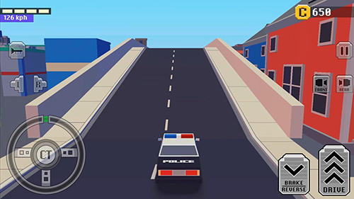 Rennspiele Crazy car: Fast driving in town für das Smartphone