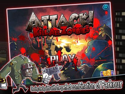 Arcade games: download Attack! Kill all Zombies to your phone