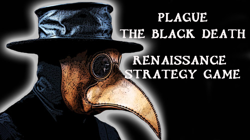logo Plague: The black death. Renaissance strategy game