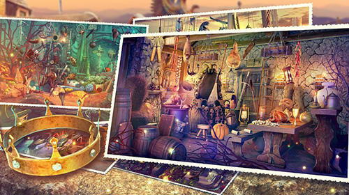 Abenteuer-Spiele Hidden objects haunted thrones: Find objects game für das Smartphone