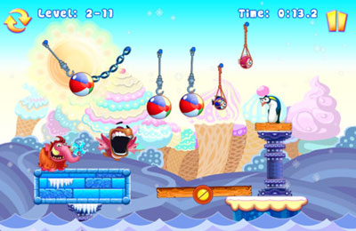 Arcade games: download Greedy Penguins to your phone