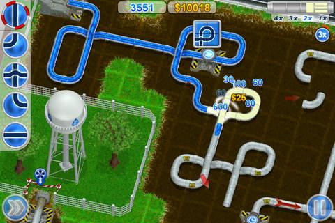Screenshot Welt der Rohrleitungen auf dem iPhone