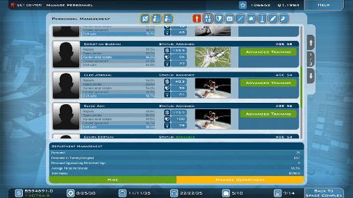 Multiplayerspiele Buzz Aldrin's: Space program manager für das Smartphone