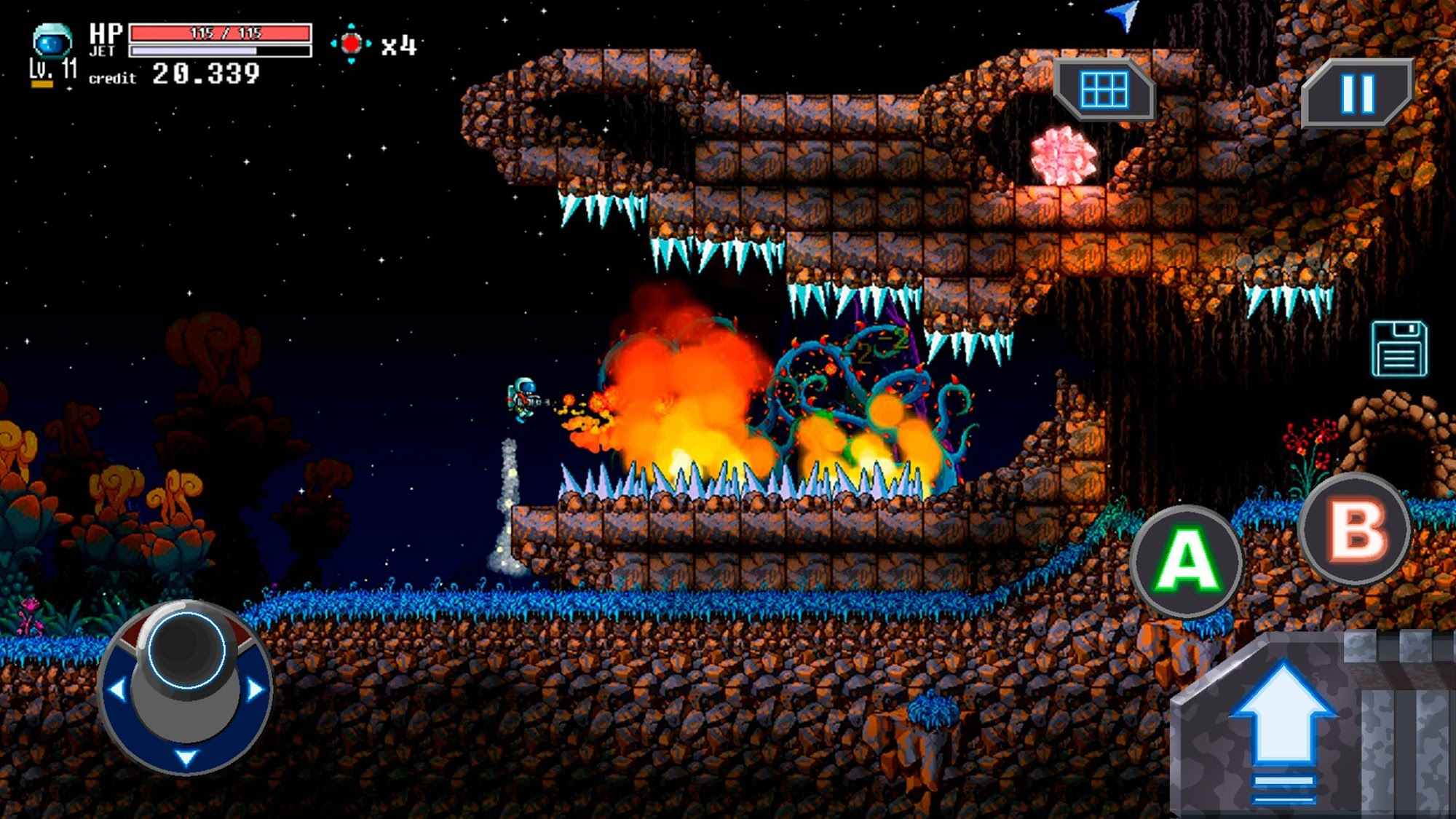 Willy Jetman: Astromonkey's Revenge screenshot 1