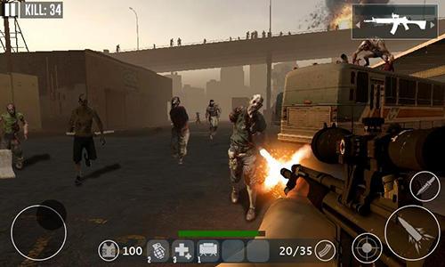 Jogos de tiro em primeira pessoa Dead zombie frontier war survival 3D em portugues