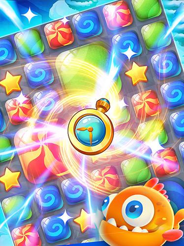 Arcade-Spiele Candy puzzle: Color bubble für das Smartphone