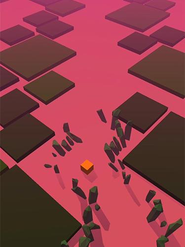 Arcade-Spiele Dancing cube: Line jump. Tap tap music world tiles für das Smartphone