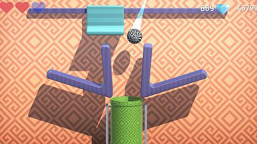 Arcade-Spiele Ball vs hole für das Smartphone