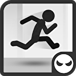 Stickman parkour runner Symbol