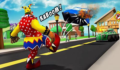 Actionspiele Creepy clown attack für das Smartphone