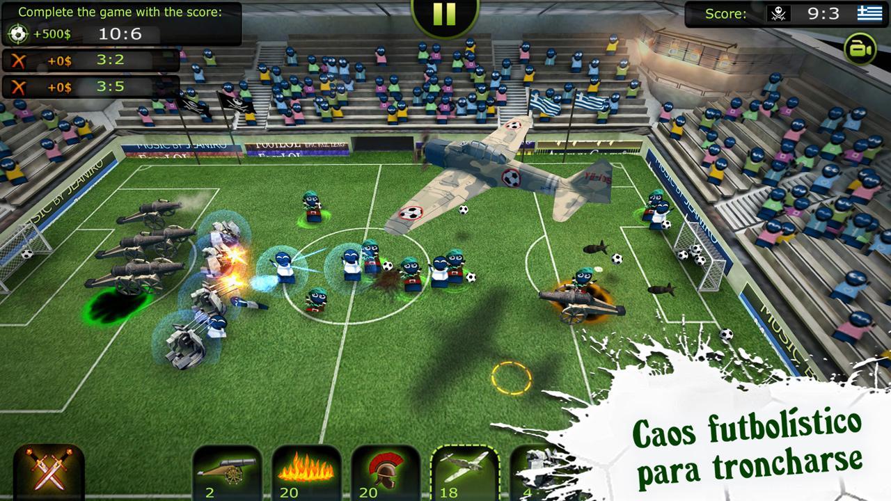 FootLOL: Crazy Soccer! Action Football game captura de pantalla 1