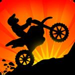 Sunset bike racer: Motocross Symbol