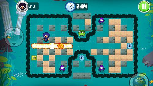 Screenshot Abenteuer des Ninjajungen: Bomberman Edition auf dem iPhone