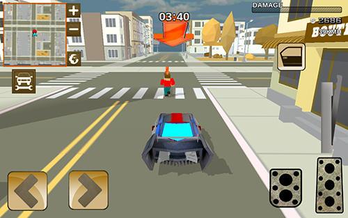 Rennspiele Blocky hover car: City heroes für das Smartphone