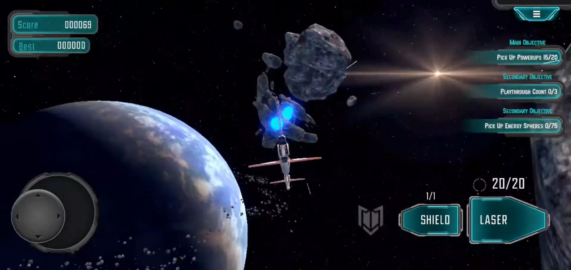 Asteroids Star Pilot для Android