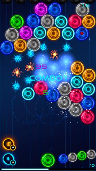 Spiele mit Bällen Magnetic balls 2: Glowing neon bubbles auf Deutsch