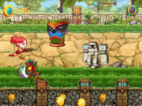 Аркады игры: A Clash of Diamond Warrior: Temple Adventure Pro Game на телефон iOS