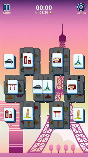 Mahjong solitaire: Country world tours capture d'écran 1