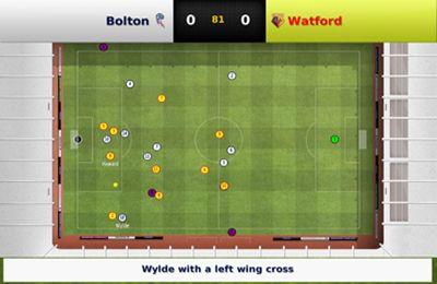 Screenshot Fußball Manager 2013 auf dem iPhone