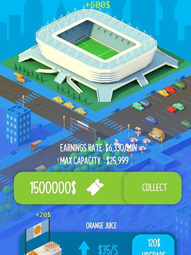 Soccer clicker stadium builder für Android