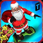 Hoverboard rider 3D: Santa Xmas Symbol