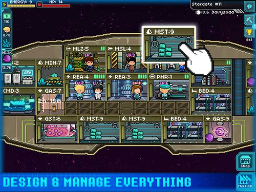 RPG: download Pixel starships to your phone