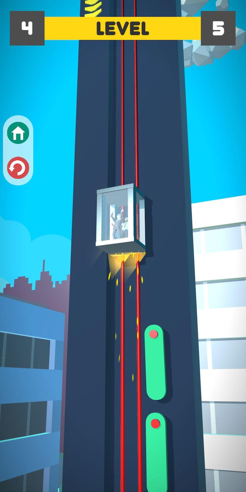 Lift Survival 3D - elevator rescue surviving game スクリーンショット1