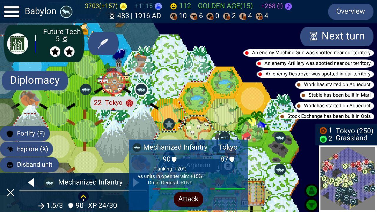 Unciv captura de pantalla 1