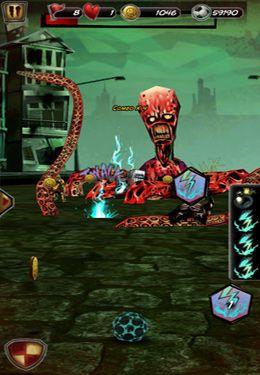 Screenshot Zombie Fussballspiel auf dem iPhone