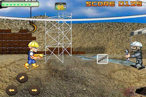 Arcade-Spiele: Lade Krieg der Bauarbeiter auf dein Handy herunter