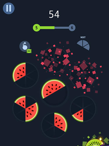 Slices! Fruit pieces! Circle puzzles game! für Android
