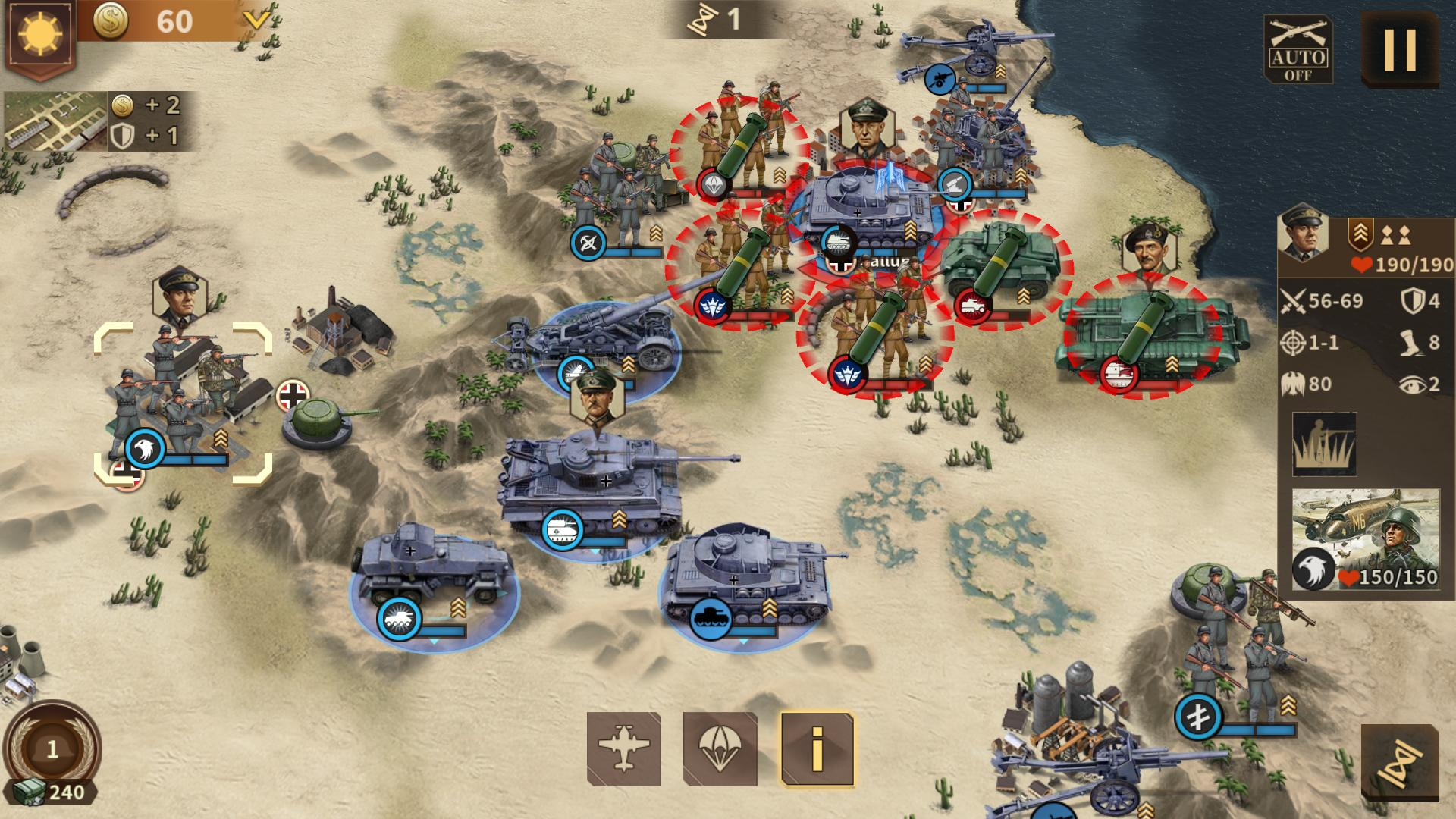 Glory of Generals 3 - WW2 Strategy Game スクリーンショット1