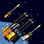 Space station defender 3D icon