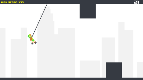 Pixel rope: Endless rope swing in English