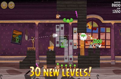 Arcade games: download Angry Birds Seasons: Haunted hogs to your phone