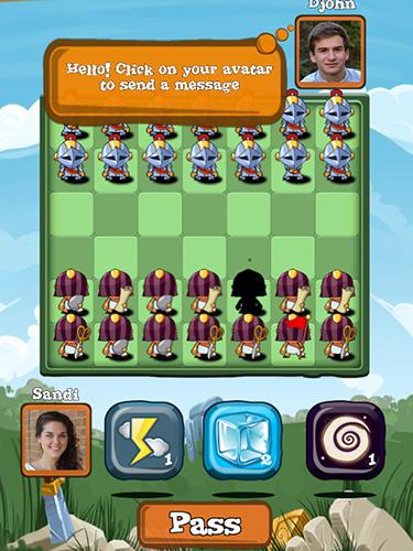 Rundenbasierende Strategiespie Battle board auf Deutsch
