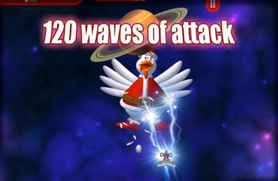 Arcade games: download Chicken Invaders 3 Revenge of the Yolk Christmas Edition to your phone