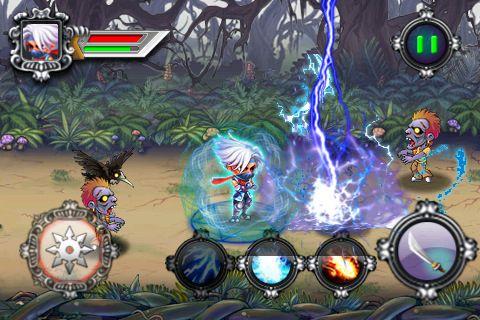 Ninja contra zombies para iPhone gratis