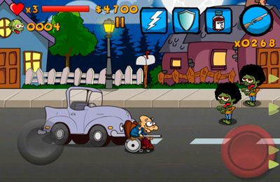 Capture d'écran La Mémé contre les Zombies sur iPhone
