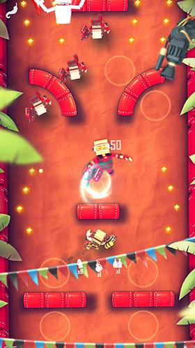 Arcade-Spiele Flick champions VS: Paintball für das Smartphone