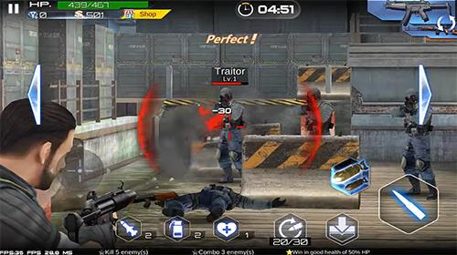 Actionspiele Blazing sniper: Elite killer shoot hunter strike für das Smartphone