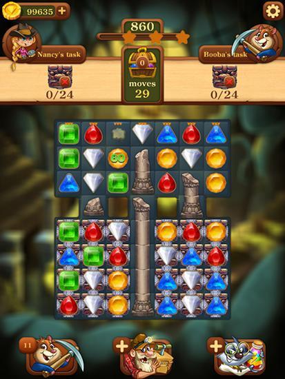 マッチ3ゲーム Jewels: To the center of Earth の日本語版
