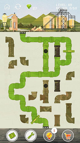 Pipes game: Free puzzle for adults and kids für Android