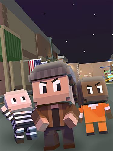 Pixel Blocky cops auf Deutsch