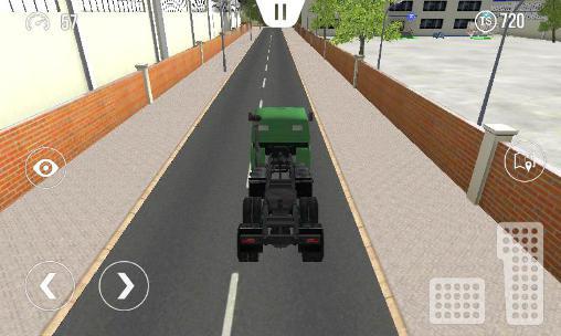 Simulator-Spiele Big truck hero: Truck driver für das Smartphone